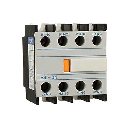 eebd1ed56fc7f Auxiliares 4 NC contactos de Cambiar Contactor de la CA  Amazon.es ...