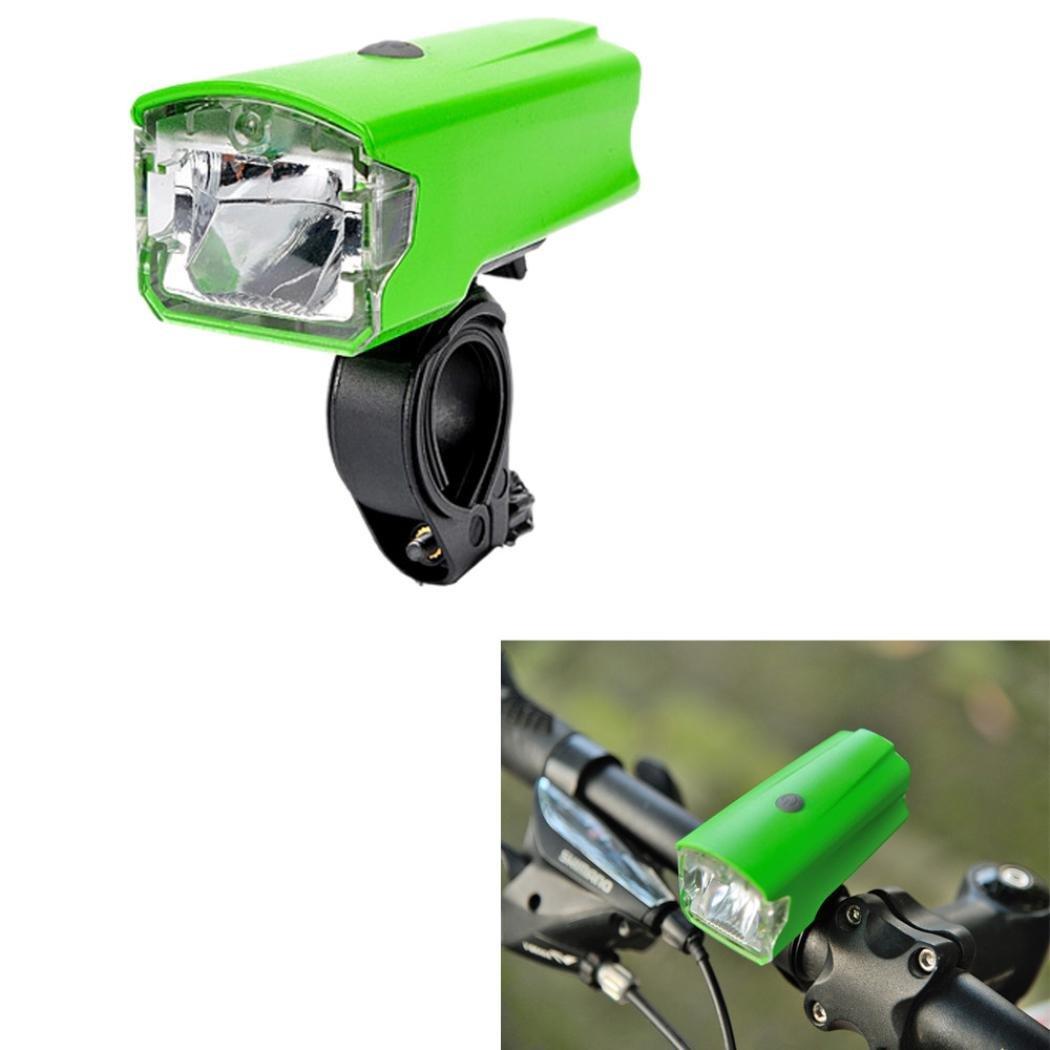 DZT1968 Leadbike Bike Bicycle USB Rechargeable Bicycle LED Headlights 88x40x34MM (Green)