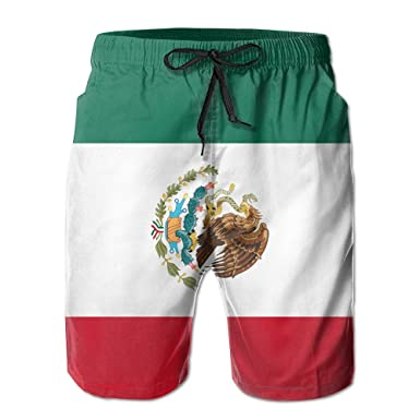e59c710ea6 Mexican Flag Summer Quick-drying Board Short Swim-trunk For Men   Amazon.com