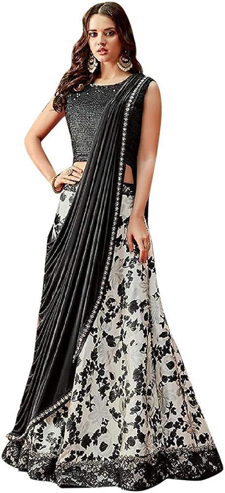 Amazon.com: Vestido indio étnico floral blanco y negro ...
