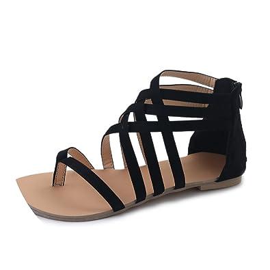 e10346911 Women Sandals Gladiator Sandals Summer Shoes Female Flat Sandals Flip Flops  Beach Shoes