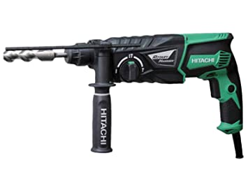 hitachi hammer drill. hitachi dh26px 26mm 240v sds plus rotary hammer drill and side handle i