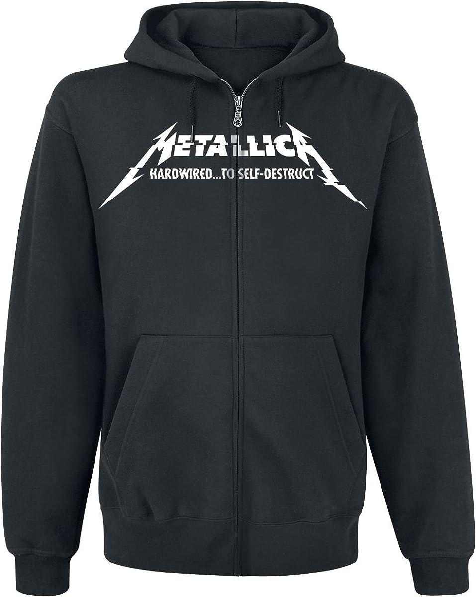 Homme noir noir Rock Sweat-shirt /à capuche