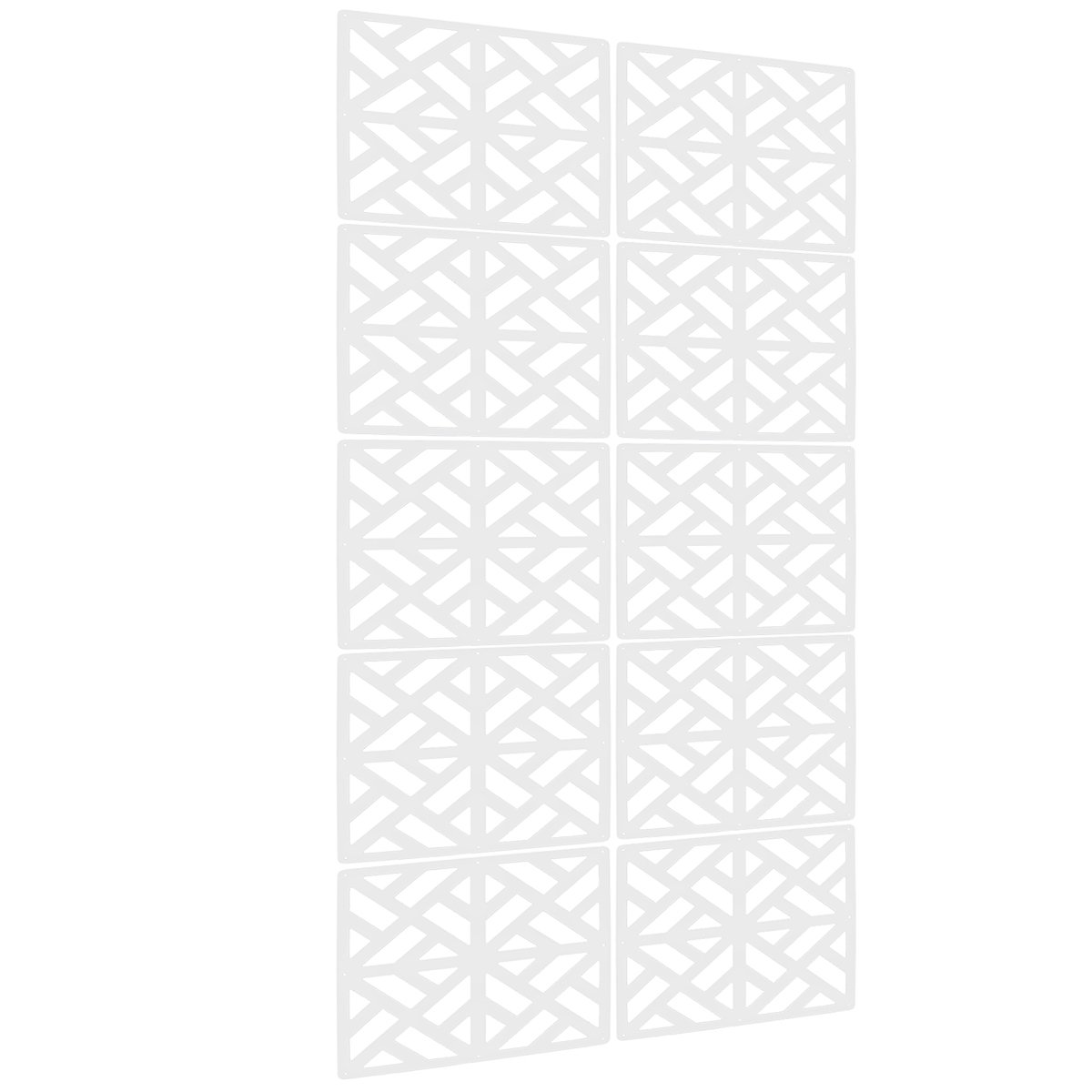 Lchen Hanging Room Divider, 0.2'' T White Wood-plastic Panel Screen for Decorating Beding, Dining, Study and Sitting-room, Hotel, Bar and School(SG,15.3''X15.3'')