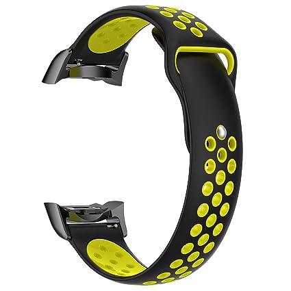 Samsung Galaxy Gear S2 SM-R720 / SM-R730 Pulsera Reloj para Hombre y Mujer Poroso Correa Transpirable Brazalete de Dos Tonos Strap Silicona Wristbands de ...