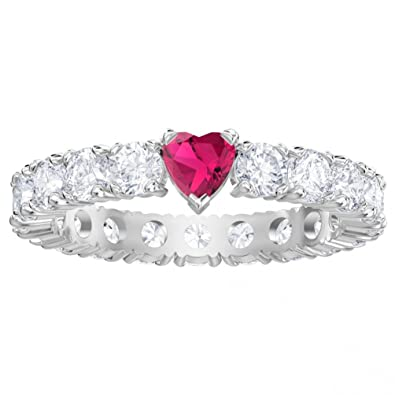 514981a21 White Love Ring Rhodium Plated 5391767: Amazon.co.uk: Jewellery