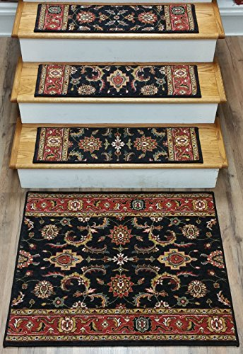 148804   Rug Depot Traditional Oriental Carpet Stair Treads   Set Of 15  Treads 30u0027