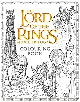 amazoncom the lord of the rings movie trilogy colouring book 0000008185174 warner brothers j r r tolkien nicolette caven books - Lord Of The Rings Coloring Book
