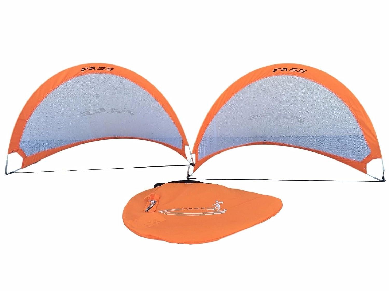 Pass 5フッター – 5 ftポップアップ、fold-ableサッカー目標。(ペア) Portable Soccer Football Nets & Carry Case。5足ターゲット目標。 B01B8F6KZY オレンジ オレンジ