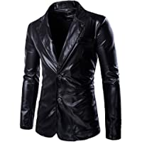 Choose Men Metallic Slim Fit Casual Two Button Blazer Jacket