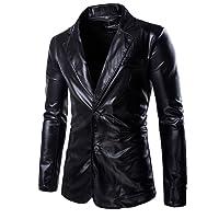 Choose Men Metallic Slim Fit Casual Two Button Blazer Jacket