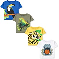The Children's Place Baby Toddler Boy Short Sleeve Graphic T-Shirt 4-Pack