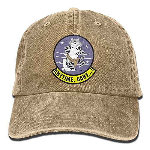 US Navy F-14 Tomcat Squadron Cotton Adjustable Washed Twill Baseball Cap Hat