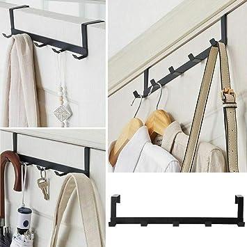 Charcoal 22004 Officemate Over The Door Double Coat Hooks