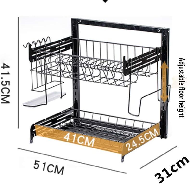 QQDL Escurridor de Platos de Cocina Rejilla escurreplatos con cubertero Escurridor Platos sobre F/ácil de Montar Mantenga la Cocina ordenada Gran Capacidad Placa de Drenaje extra/íble