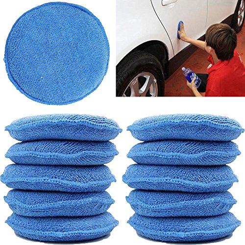 WINOMO Car Wax Sponge Waxing Polish Wax Foam Sponge Applicator Pads Cars Vehicle Glass Clean (10PCS/Set) by WINOMO (Image #3)