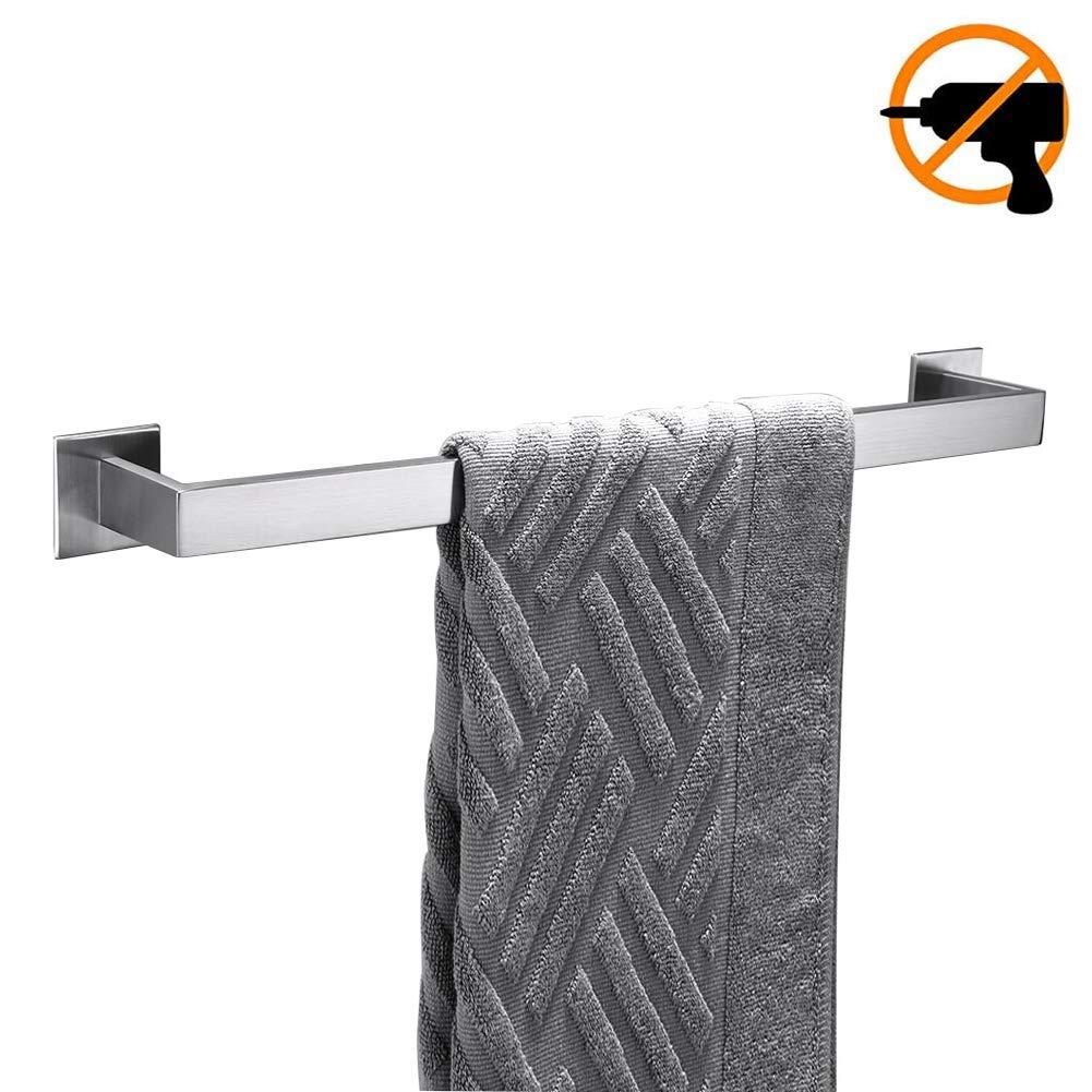 Homovater Selbstklebend hochwertig 304 Edelstahl Geb/ürstetes Finish 30cm Handtuchhalter Modern Einfach Design Stil f/ür Badezimmer Dusch