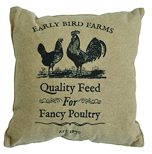 Rooster Toile Pillow - CWI Gifts 10