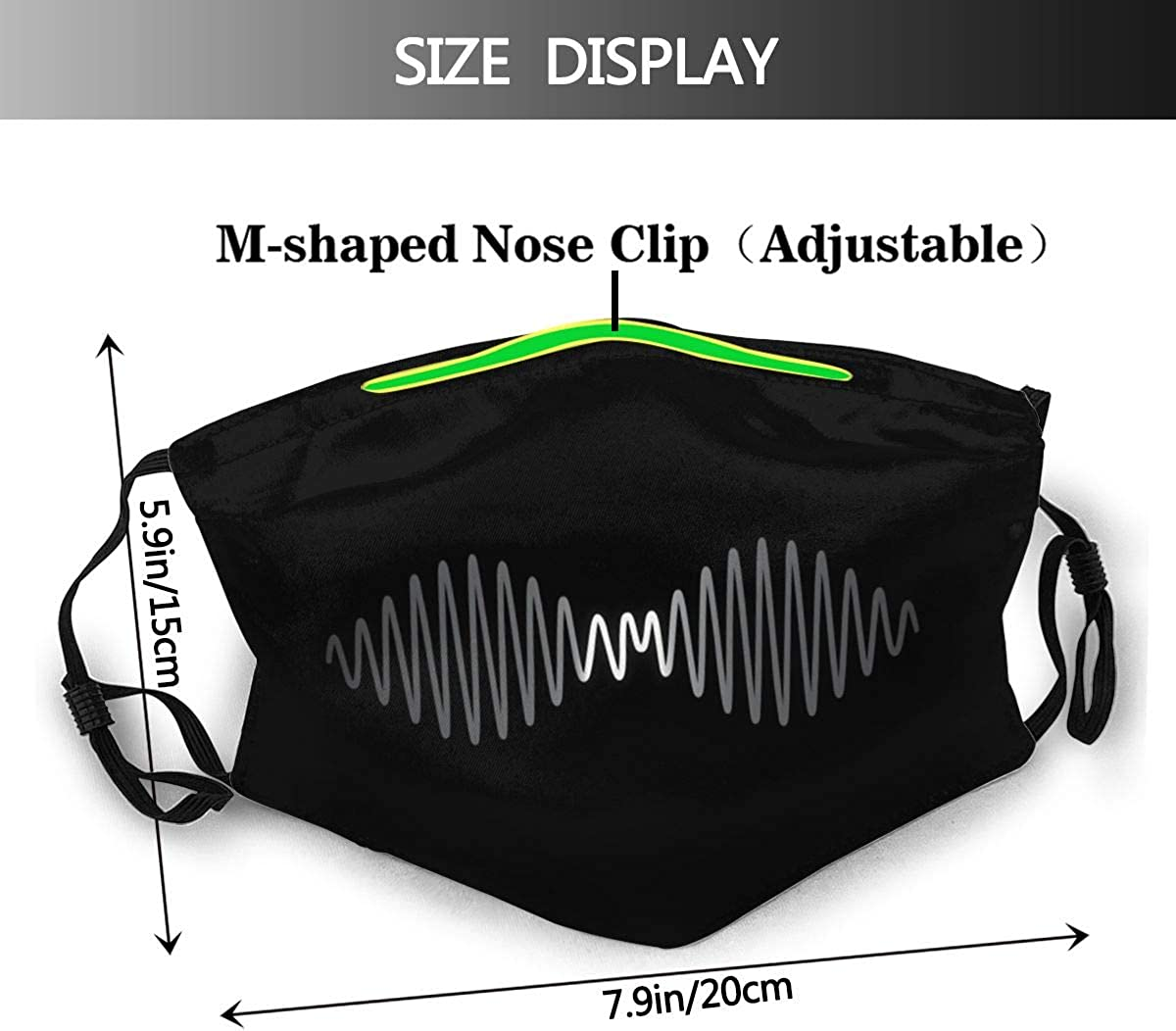 WOTAKA Man With Fish Skeleton In The Sea Kayaking Lifestyle Climate Dust Washable Reusable Filter and Reusable Mouth Warm Windproof Cotton Face