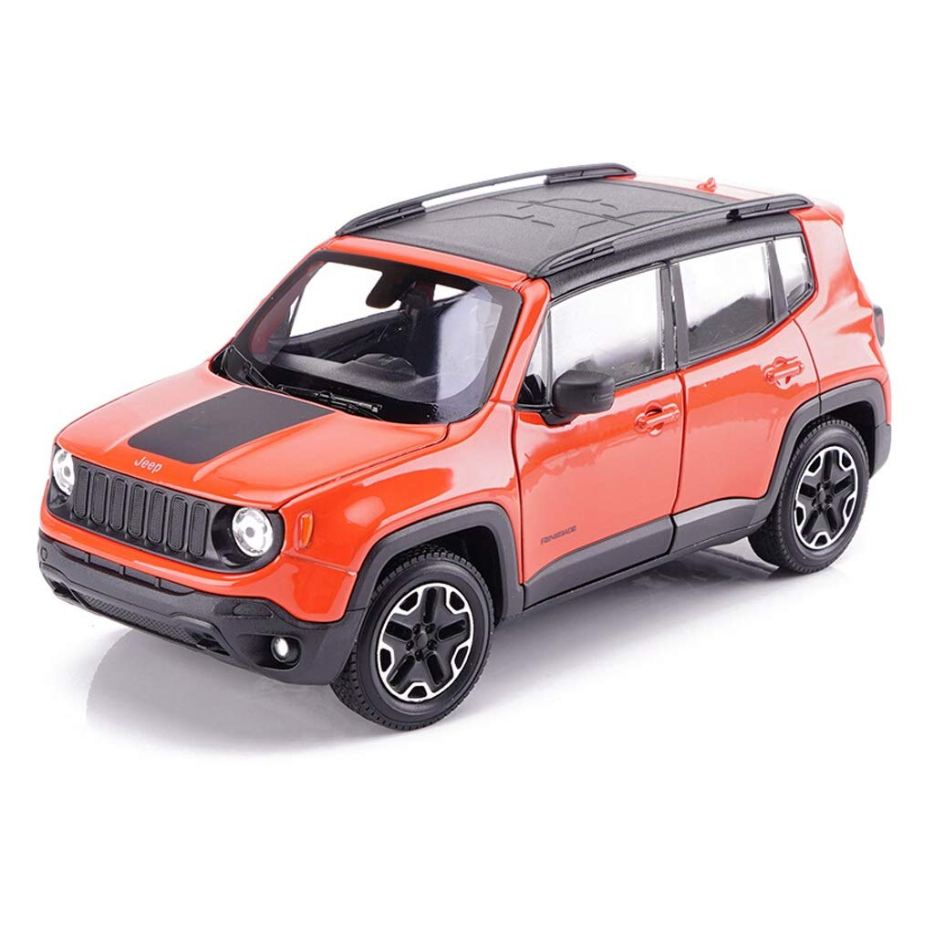 HTDZDX Car Model Car 1:24Jeep Freeman Off-Road Vehicle Simulation Alloy Die-Casting Toy Ornaments Sports Car Collection Jewelry 16x6.5x6CM (Color : Orange)