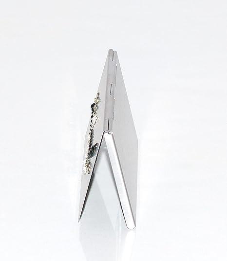 Lujo tarjeta de visita caso con cristales Swarovski, Plata ...