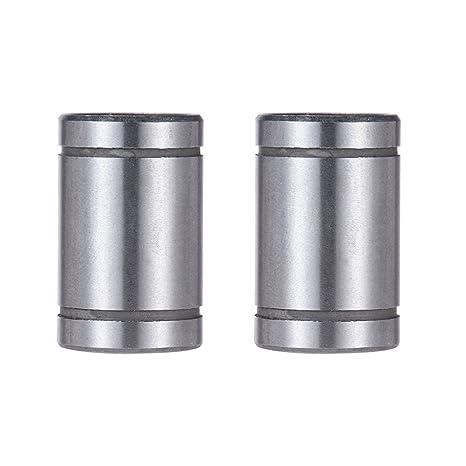 aibecy LM8UU Cojinete Lineal de rodamientos a bolas de 8 mm Dentro ...