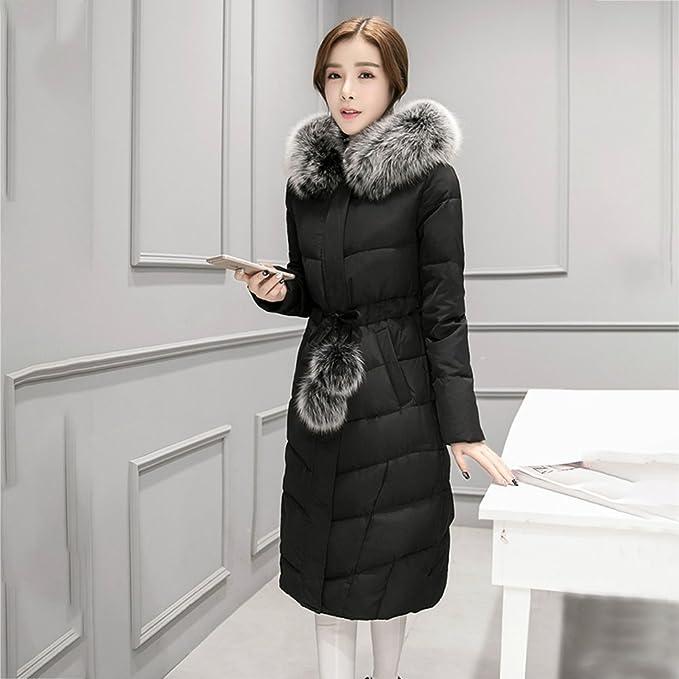 Manteaux Femme Doudoune Hiver Epais Duvet de Canard Col Fourrure Manches  Longues Manteau Long Chaud Jacket Casual Veste  Amazon.fr  Vêtements et  accessoires c0369af878c