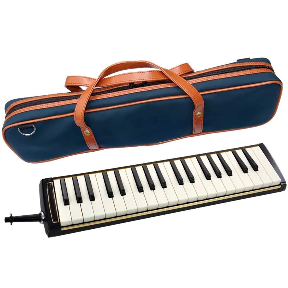 HBIAO 37-Key Melodica, Musical Instrument Keyboard Treble Mouthpiece Professional Performance with Carrying Case