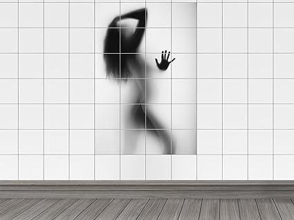 Piastrelle adesivo piastrelle immagine donna nuda attraverso matt