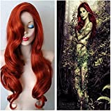 Longlove Copper Red Hair Female Cartoon Character Halloween Masquerade Playing Game Big Wave Wig by Longlove