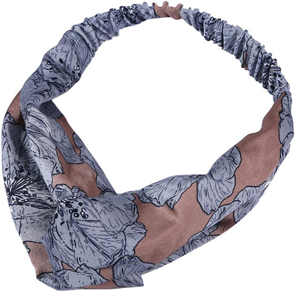 Benficial Women Vintage Flower Printed Elastic Head Wrap Twisted Cute Hair Accessories 2019 Summer