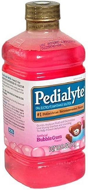 Pedialyte Oral Electrolyte Maintenance Solution, Bubble Gum, 1 qt (1.8 fl oz)