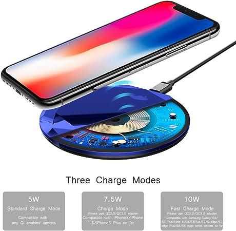 Foluu Chargeur sans Fil 10W Rapide sans Fil de Charge pour