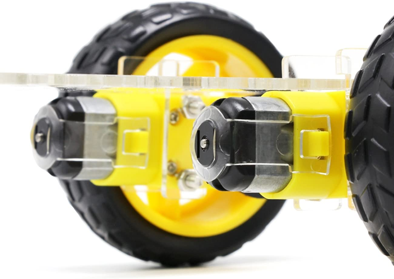The perseids DIY Robot Smart Car Chassis Kit with Speed Encoder, Wheels and Battery Box