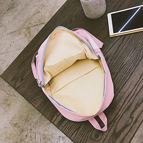 Bag Preppy Voyage Lettre Dos Filles Rose Cartoon Sac Rose Filles Étiquetage Style À School Dabixx CtwEq58
