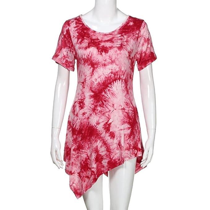 Vestidos, Ba Zha Hei Tops para mujer Manga Corta Moda camisetas blusa ropa mujer Contraste Collar elegant shirt moda Camiseta La Sra.