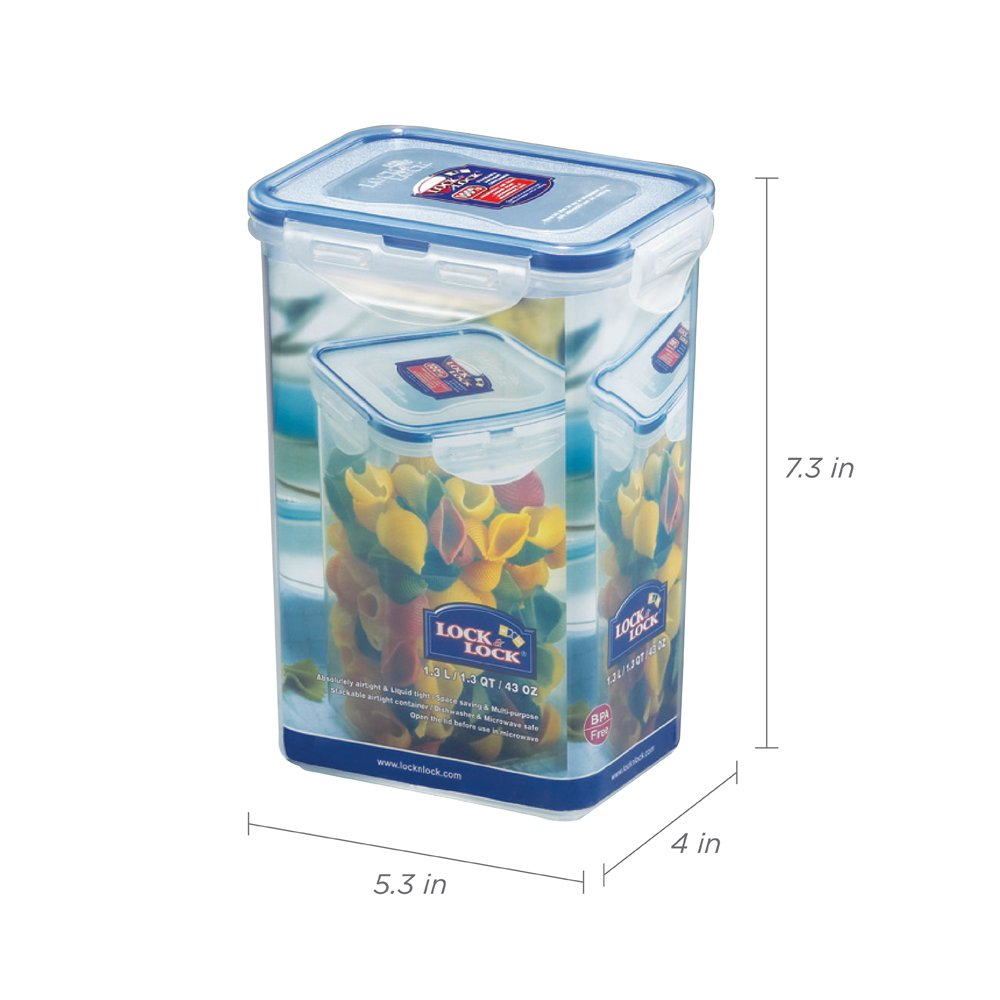 3 x Lock and Lock Pasta Fiambrera con Forma de Botella de 1.3L HPL809