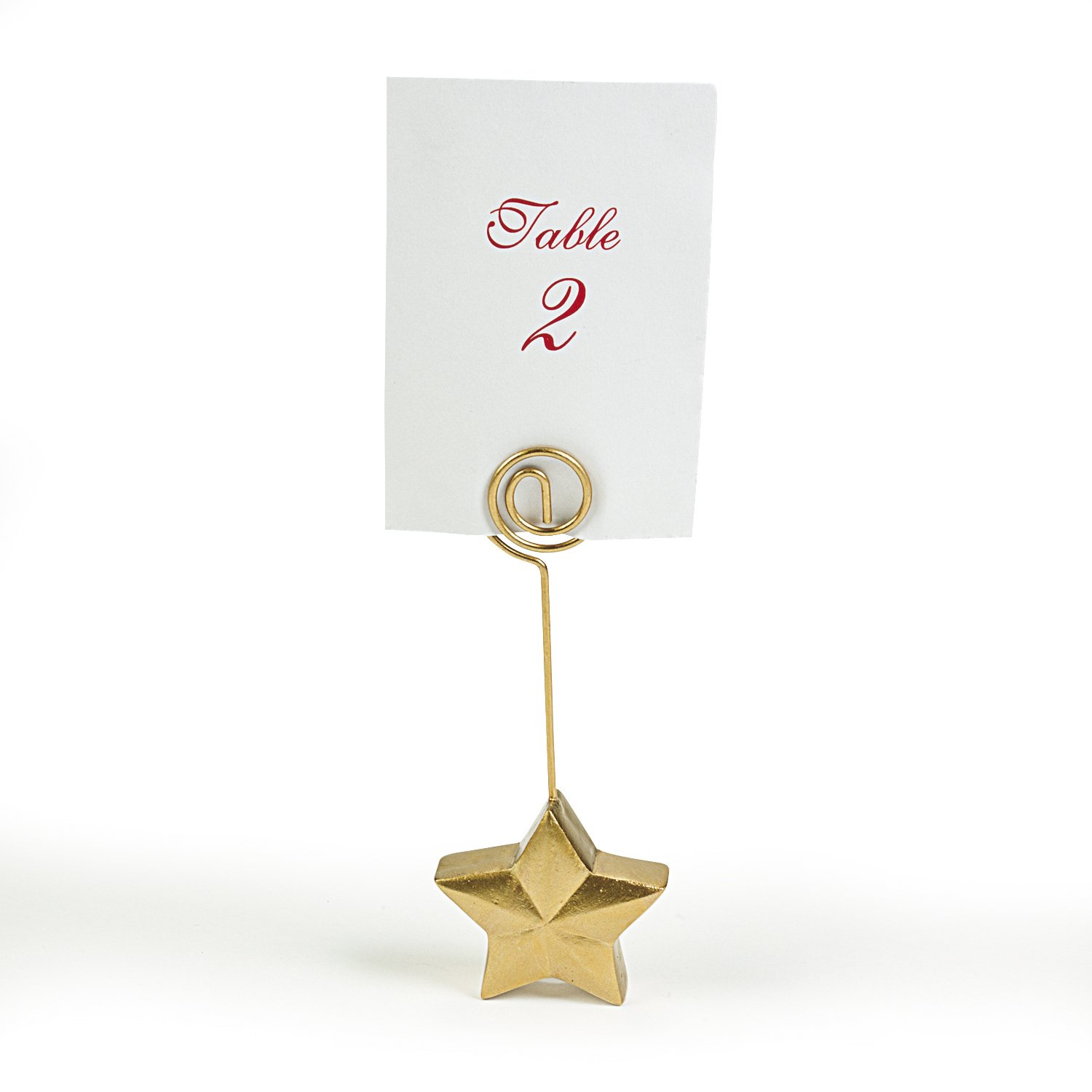 Gold Star Place Card Holders (1 dz)