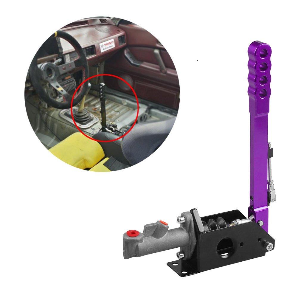 RYANSTAR Hydraulic Handbrake Master Cylinder 0.70,Vertical Professional Type, WRC type, Drifting Rally Race (purple)
