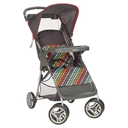 Amazon.com : Cosco Lift & Stroll Rainbow Dots Convenience Standard Stroller : Baby
