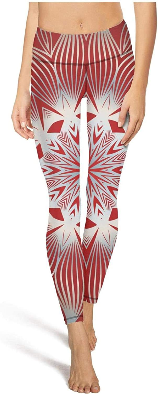 DFGHFGFQ Attractive Women Yoga Pants Geometric Patterns Soft Elastic Workout Pants Yoga Workout Bra
