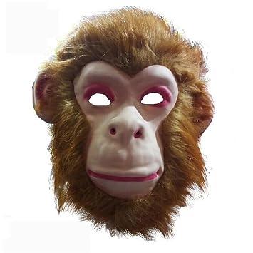 PromMask Mascara Facial Careta Protector de Cara dominó Frente Falso Animal máscara león Lobo Tigre orangután