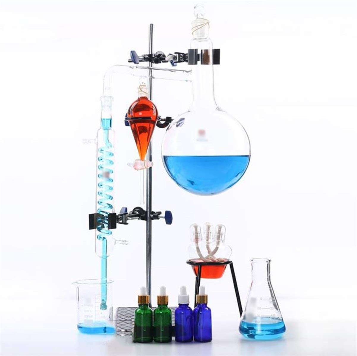 Wyyggnb Laboratory Equipment, Complete Distillation Unit Laboratory Teaching Equipment Making Essential Oils Alcohol Distilled Water Filter by Wyyggnb
