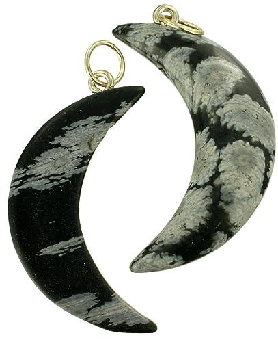 Obsidiana luna preciosos colgantes de piedra (3 cm de ...