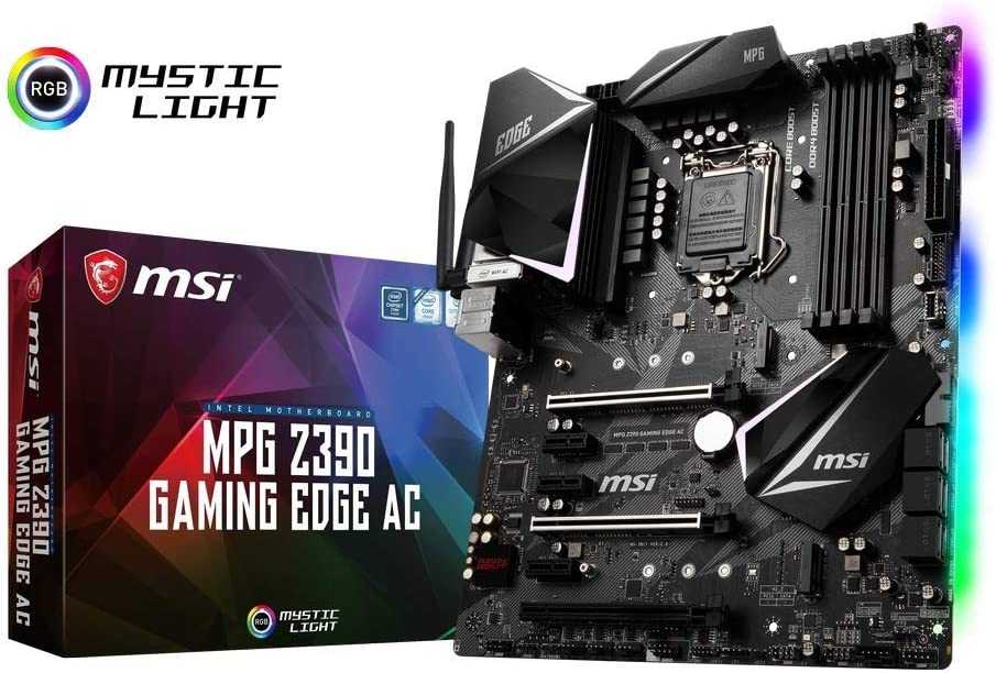MSI Intel Z390 Edge AC Gaming ATX DDR4-SDRAM Motherboard