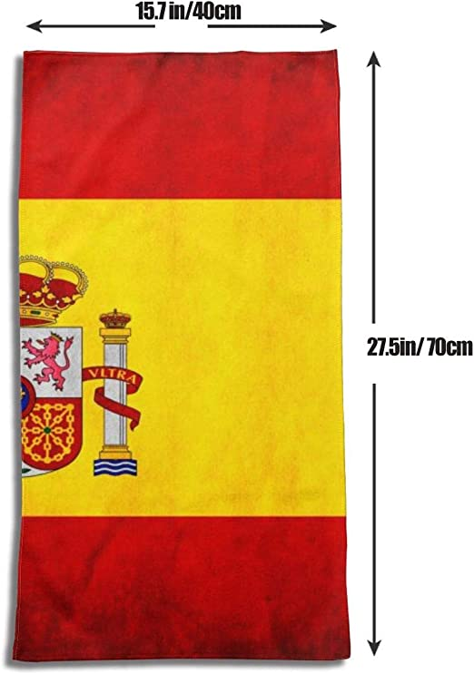 N/A Toalla de baño suave altamente absorbente toalla para baño, hotel, gimnasio, yoga, natación (27.5 x 15.7 pulgadas) banderas de España: Amazon.es: Hogar