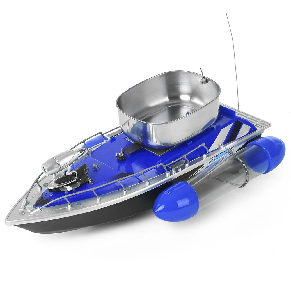 Greendream Mini RC Wireless Fishing Lure Bait Boat Remote Control for Finding Fish - Blue