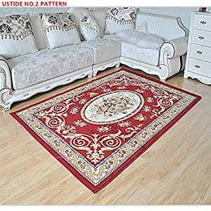 Ustide Classic Rustic Large Area Carpet,Home Decorate Floral Designers Living Room Carpet,Wilton Weaving Non-Skid Floor Rugs,Cut Flowers Caft Sofa Carpets 5x7