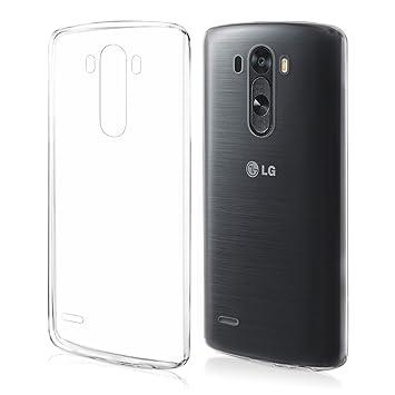 kwmobile Funda para LG G3 - Carcasa Protectora de TPU para móvil - Cover Trasero en Transparente