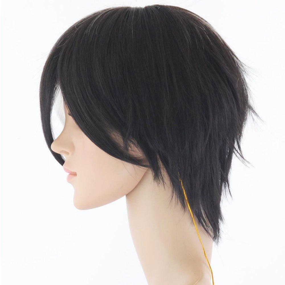 Amazon.com : Recto Corto Pelucas Cosplay Pelucas Sintéticas Del Pelo White And Black Color Rubia De La Cara Llena Peluca Cosplay Wig : Beauty